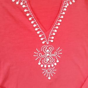 Lilly Pulitzer Tops - Lilly Pulitzer Eliana Pink Tunic Top Size XSmall